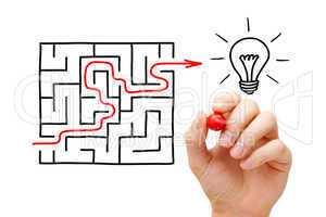 Maze Light Bulb Concept