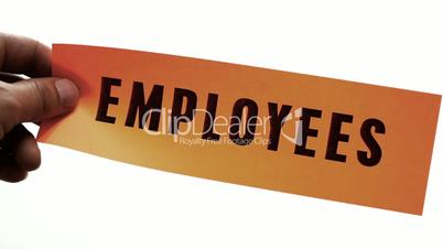 Cutting Employees Business Concept