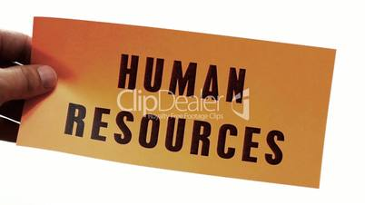 Cutting Human Resources Business Concept