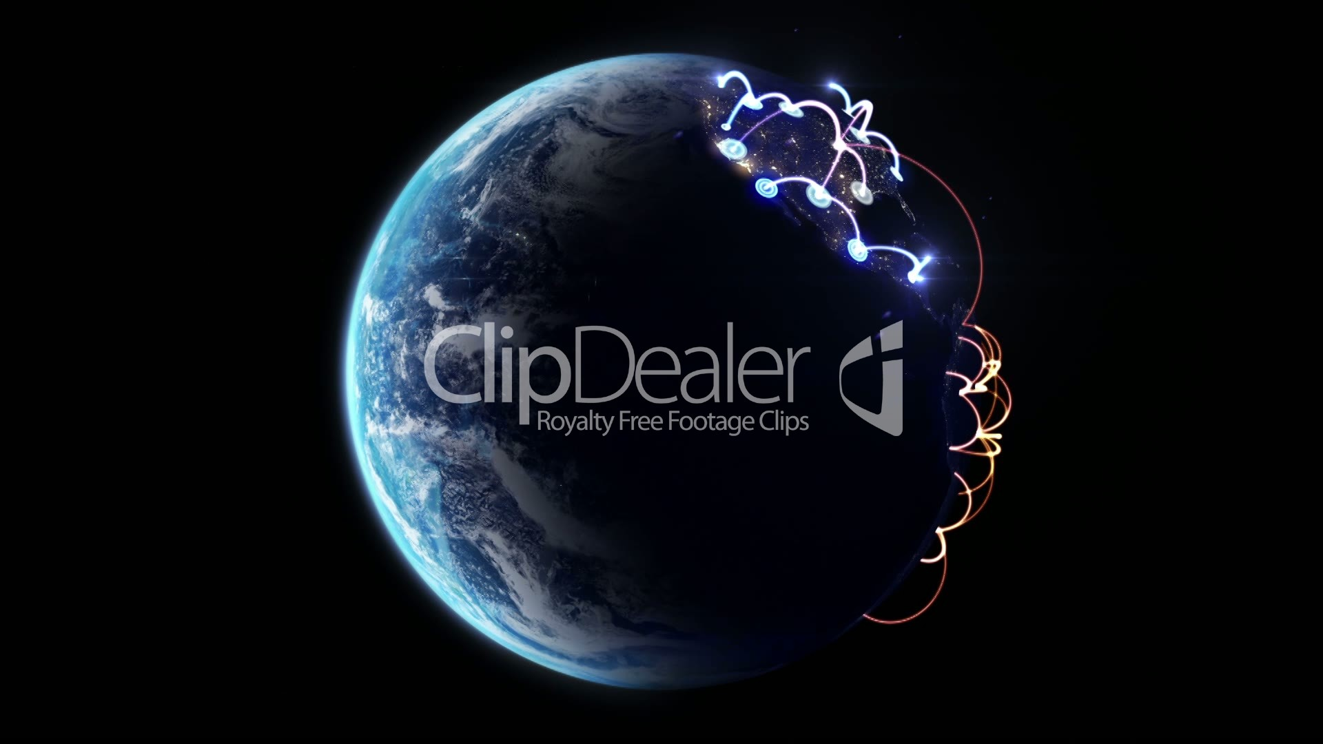 Global network rotating earth with night lights royalty free world map royalty free videos gumiabroncs Choice Image