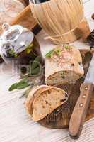 home-made olive ciabatta