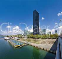 Danube City Vienna with the brand new DC-Tower