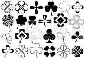 Set Of Different Clovers Set
