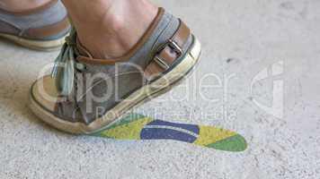 Leaving Mark Footstep Brazil