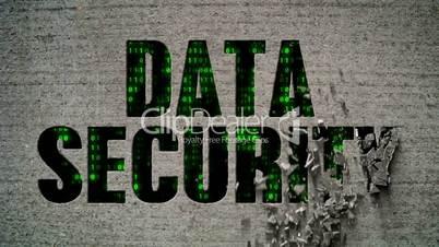 Binary Code Wall Data Security