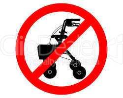 Rollatoren verboten