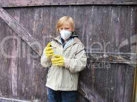 Kind beim Sprayen