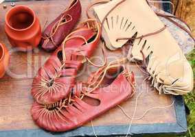 Werkstatt eines römischen Schuhmachers