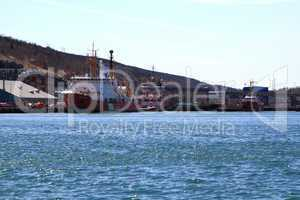 CCGS ships on pier in St. Johns Harbor ready for rescue operations