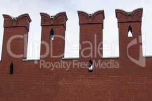 Kremlin. fragment of the wall