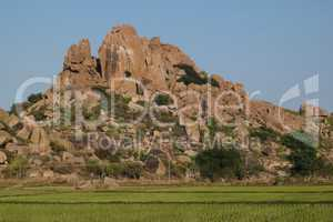 Beautiful granite mountain