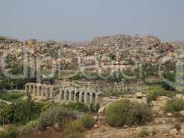 Ruin of a bridge in Hampi