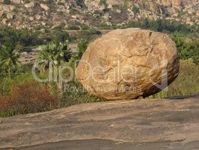 Big round granite boulder