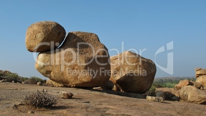 Beautiful big granite boulder