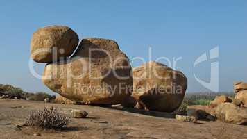 Beautiful big granite boulder