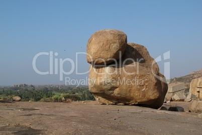 Very big granite boulder