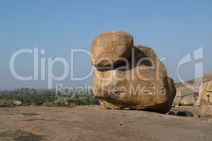 Very big granite boulder