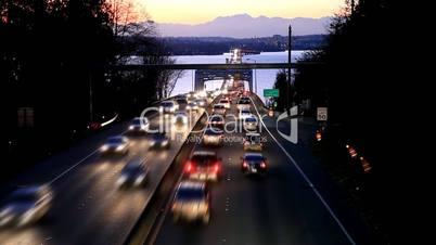 Floating Bridge in Washington State