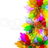 Motley flower background