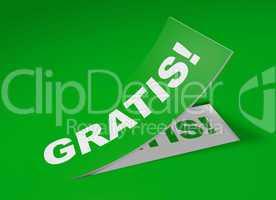 3D Etikett Grün - Gratis