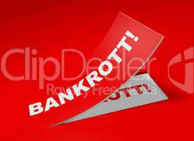 3D Etikett Rot - Bankrott