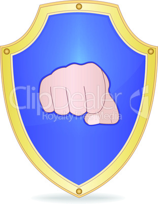 Shield with fist