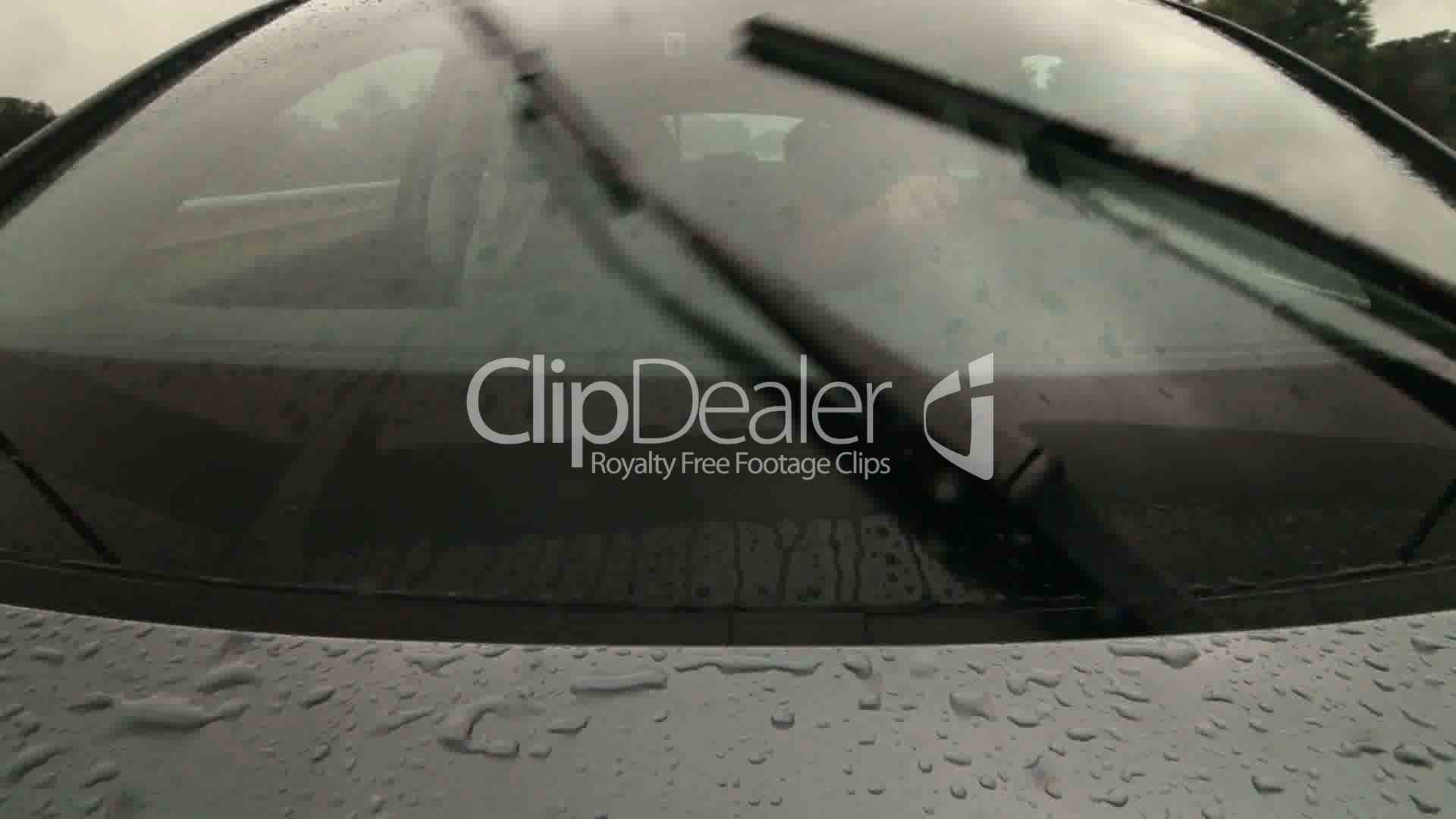Man Driving Car On Wet Road In Heavy Rain Pov Royalty-Free Video And Stock Footage-5904
