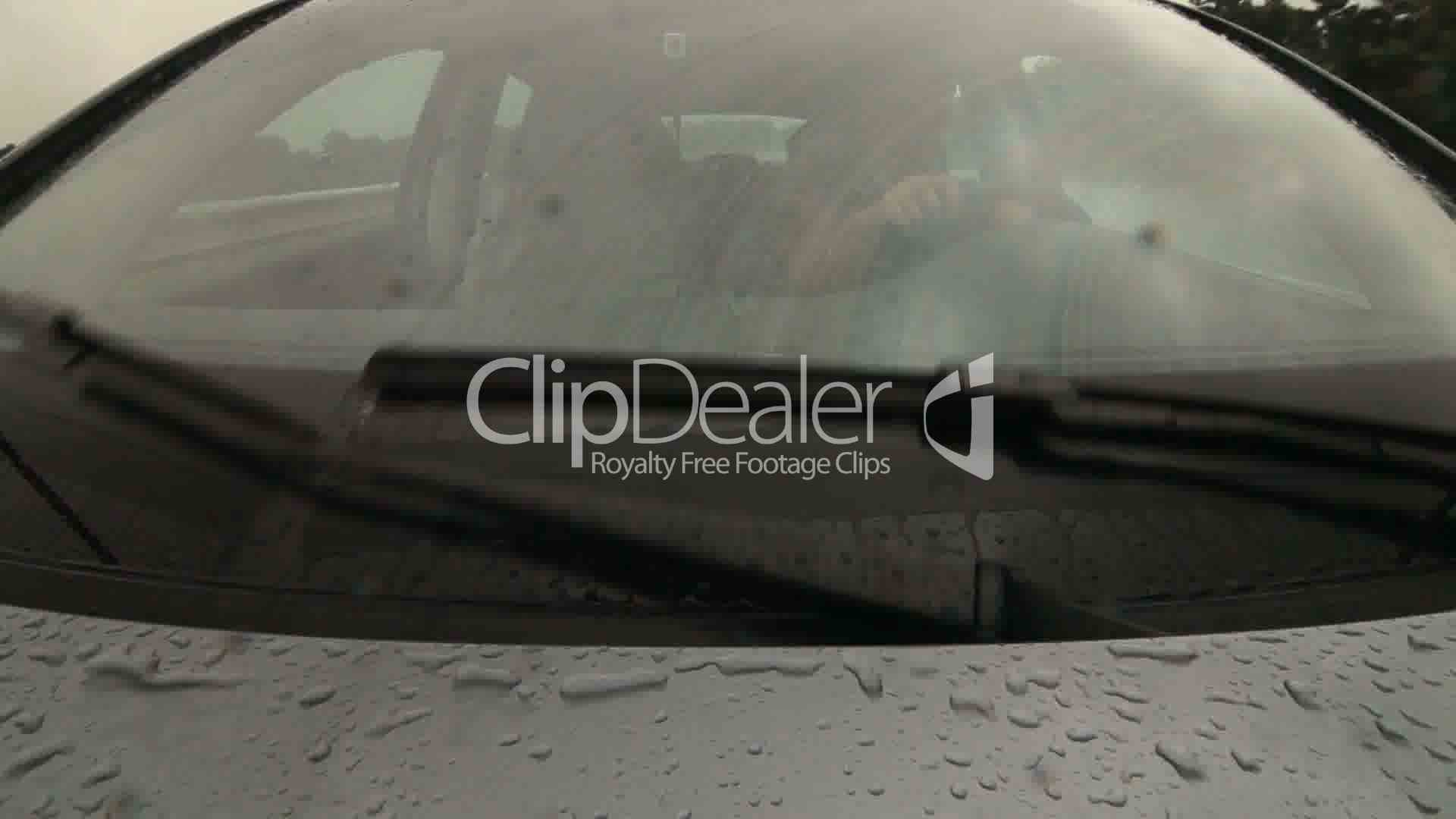 Man Driving Car On Wet Road In Heavy Rain Pov Royalty-Free Video And Stock Footage-1618