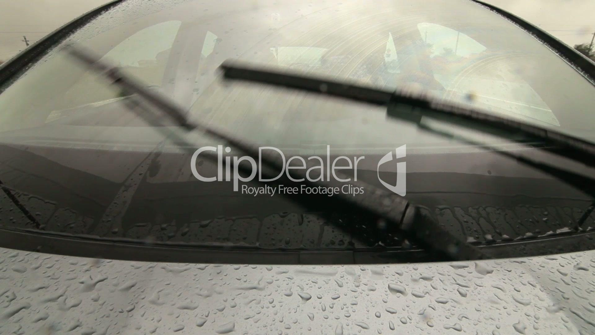Man Driving Car On Wet Road In Heavy Rain Pov Royalty-Free Video And Stock Footage-6543