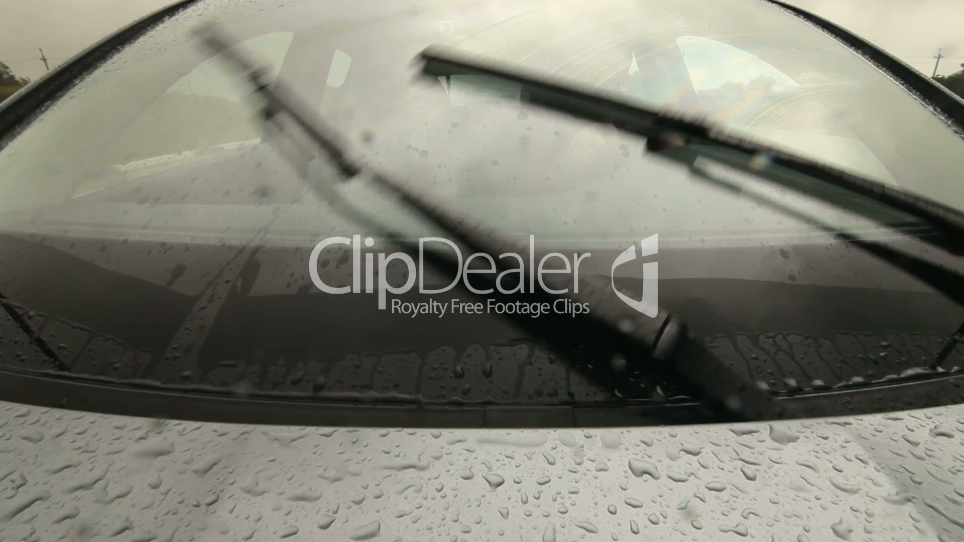 Man Driving Car On Wet Road In Heavy Rain Pov Royalty-Free Video And Stock Footage-3552