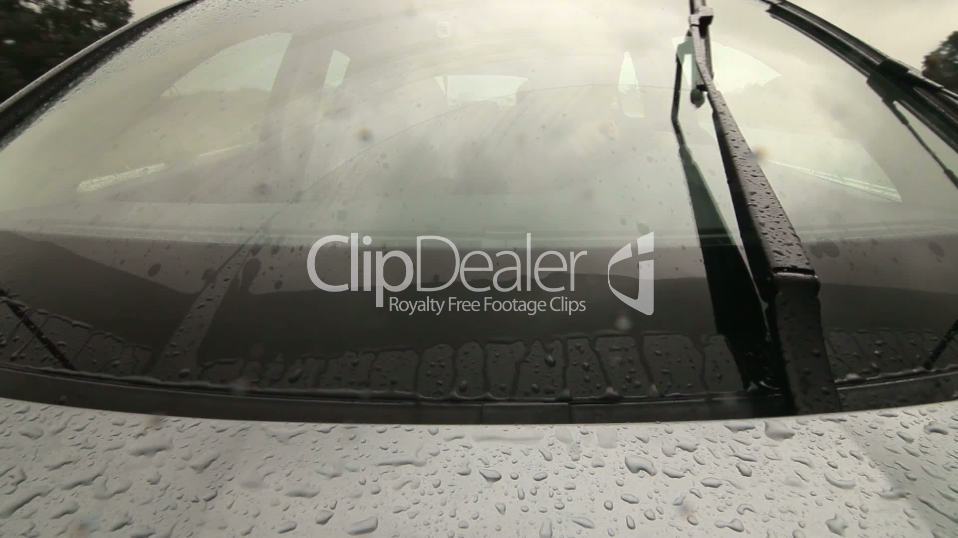 Man Driving Car On Wet Road In Heavy Rain Pov Royalty-Free Video And Stock Footage-8002
