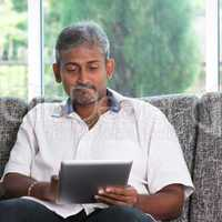 Reading on digital tablet computer