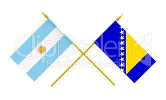 Flags, Argentina and Bosnia and Herzegovina
