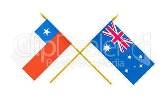 Flags, Australia and Chile