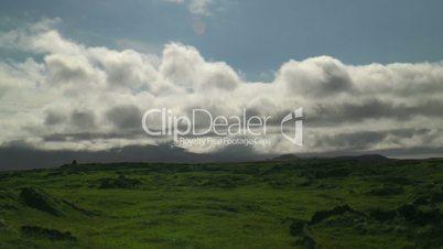 Moving clouds timelapse thingvellir (Þingvellir) national park in iceland