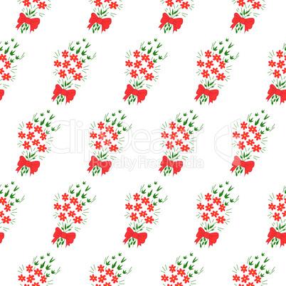 Seamless pattern bouquet of flowers