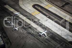 Flughafen und Startbahn von oben, Las Vegas, USA