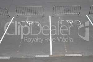 Parking for disabled guests