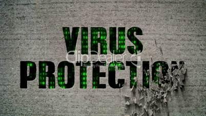 Virus Protection Crumbling Wall