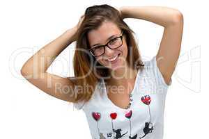 Happy girl with glasses