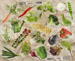 Vegetarian Food Background