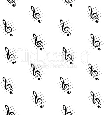 Seamless patter with treble clef