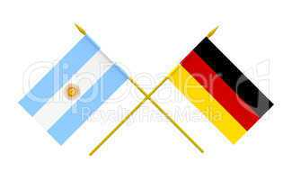 Flags, Argentina and Germany