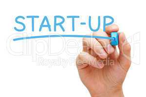 Start-up Blue Marker