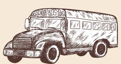 School bus sketch