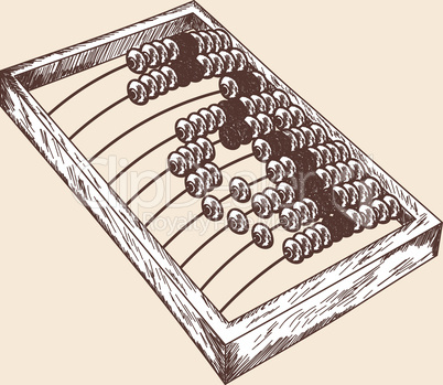 Wooden abacus sketch