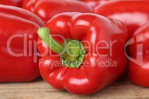 Roter Paprika Gemüse