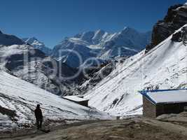 View from Thorung Phedi High Camp