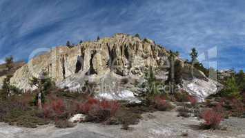 Limestone formations near Manang