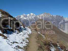 Foot-path from Muktinath to Jomosom